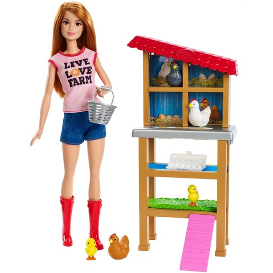 Barbie Chicken Farmer Doll & Playset image number null