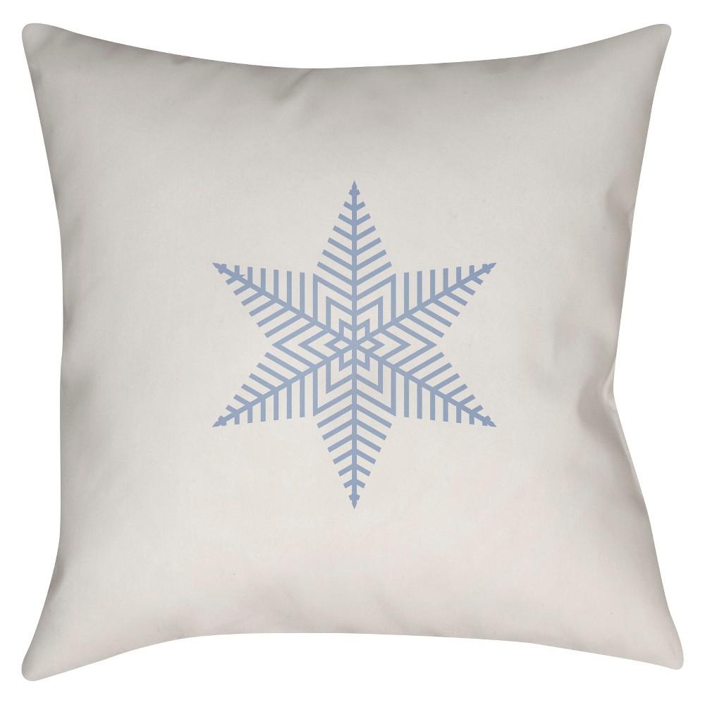 White Snowflake Throw Pillow 20