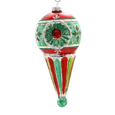 """Shiny Brite 7.0"""" Hs Sphere Drop W/Reflectors Holiday Splendor Ornament  -  Tree Ornaments"""