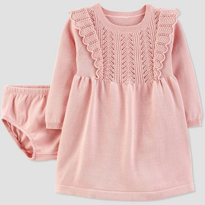 Baby Girls' Sweater Dress - Just One You® made by carter's 6M Peach