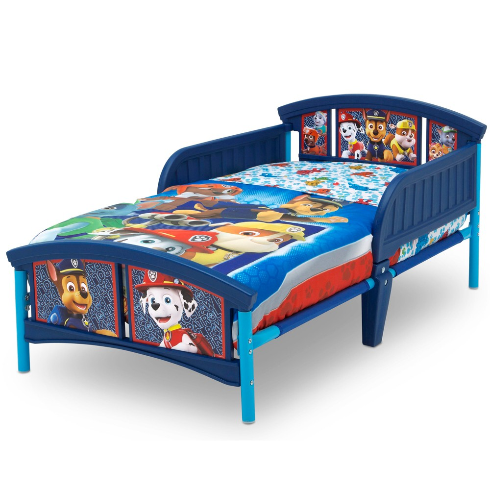 Image of PAW Patrol Plastic Toddler Bed - Nick Jr., Blue
