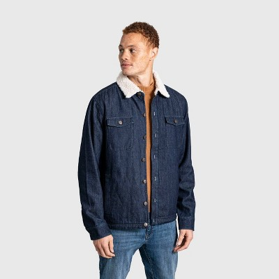 United By Blue Men's Organic Sherpa-Lined Shirt Jacket