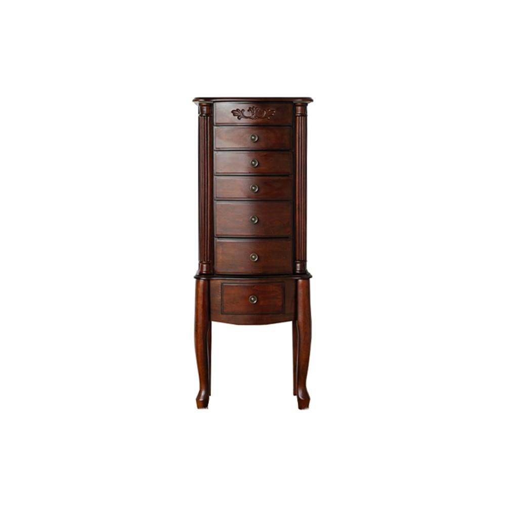 Morgan Standing Jewelry Armoire Dark Walnut Brown - Hives & Honey