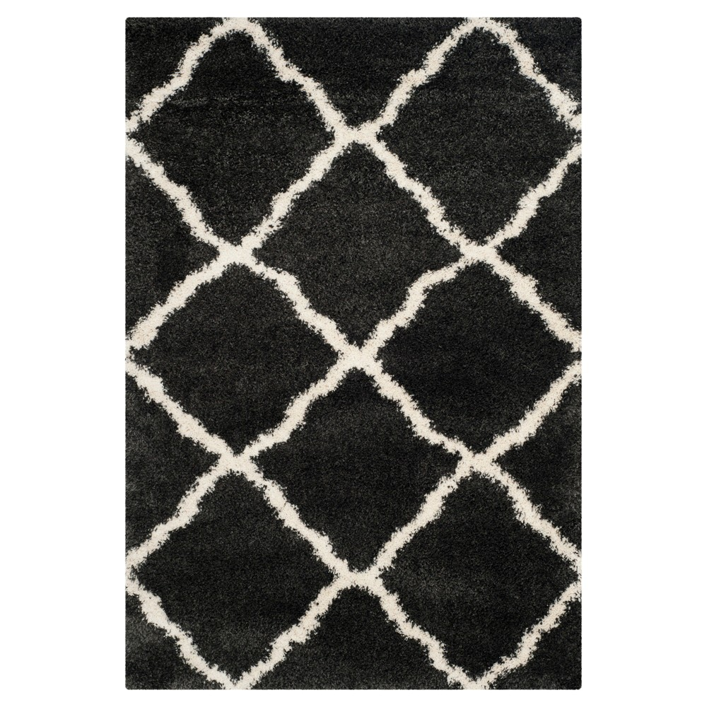 Charcoal Ivory Abstract Loomed Area Rug 5 39 1 34 X7 39 6 34 Safavieh