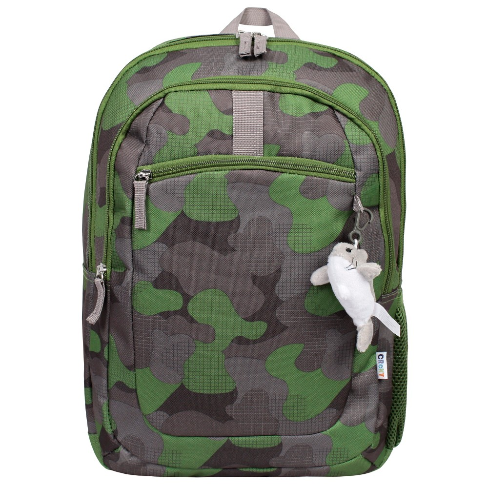 """Image of """"Crckt 16.5"""""""" Kids' Backpack - Camo, Boy's, Size: Small, Gray Green"""""""