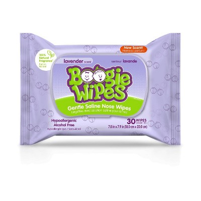 Boogie Wipes Lavender Saline Nose Wipes - 30ct