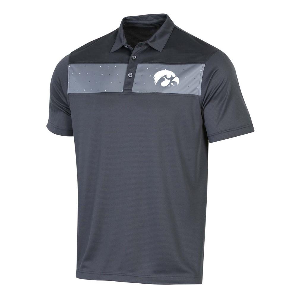 NCAA Men's Short Sleeve Polo Shirt Iowa Hawkeyes - Xxl, Multicolored