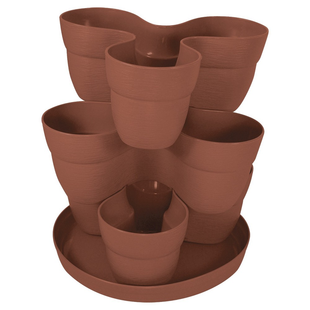 Image of 6.5 Emsco Flower Tower, Clay