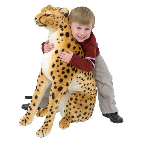 Melissa Doug Giant Cheetah Lifelike Stuffed Animal Over 4 Feet