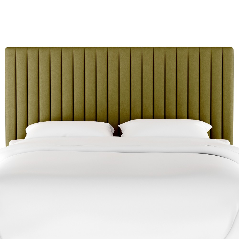 Queen Channel Headboard Green Velvet - Opalhouse