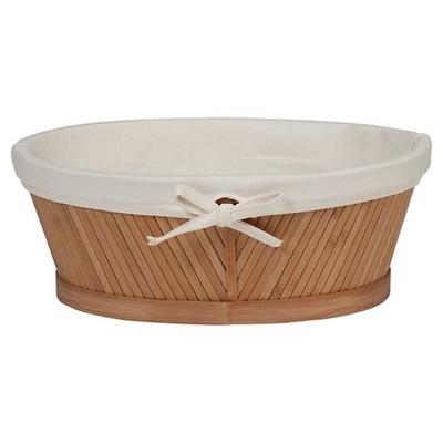 Oval Vanity Basket Light Brown Bamboo - Eco Styles®