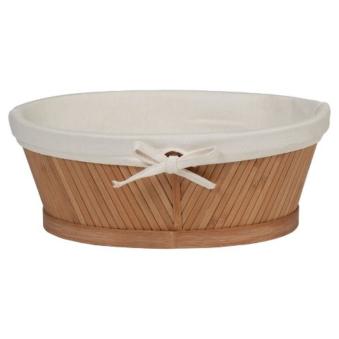 Oval Vanity Basket Light Brown Bamboo - Eco Styles® - image 1 of 2