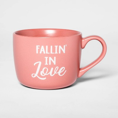 14oz Porcelain Fallin' In Love Cheyenne Mug Pink - Threshold™