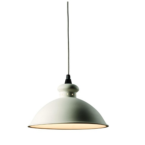 Justice Design Cer 6300 Single Light 14 75 Interior Oriel Pendant Rated For Dry Locations Bisque