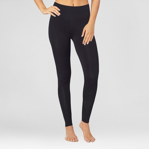 Warm Essentials by Cuddl Duds Women's Active Thermal Leggings - Black - image 1 of 4
