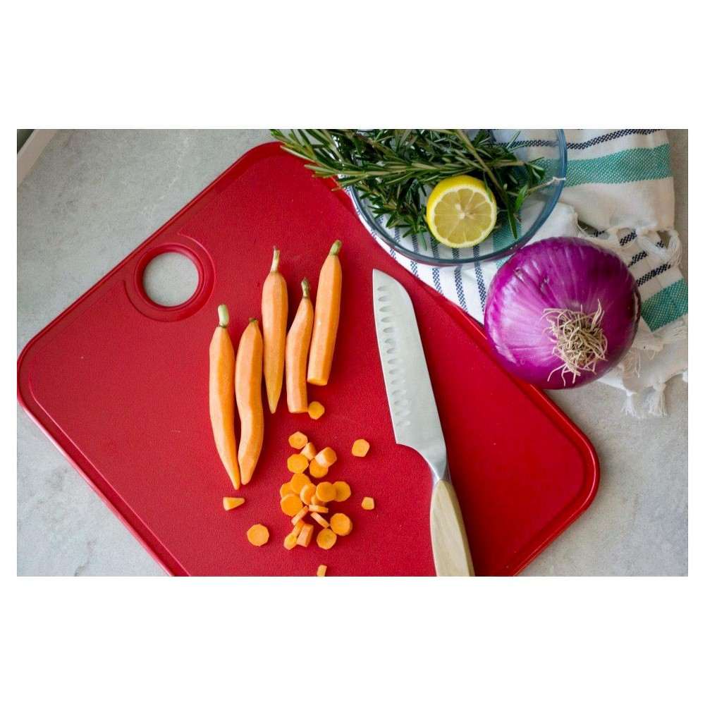 "Image of ""Architec 11""""x14"""" Gripper Cutting Board, Red"""
