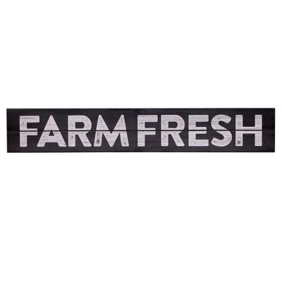 6 x36  Farm Fresh Rustic Wood Wall Art Taupe - Patton Wall Decor