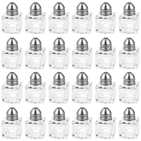 24-Piece Square Glass Mini 0.5oz Salt and Pepper Shakers Dispenser, Clear - image 1 of 3