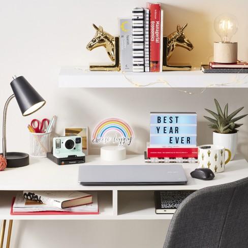 DIY Color Changing Lightbox Novelty LED Table Lamp Black - Room ...