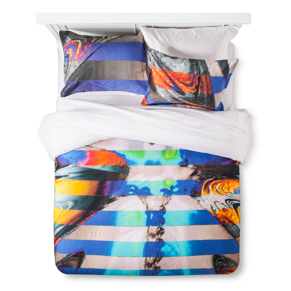 Image of Artwork Series: 'Blue and Gold' by Rod Seeley Duvet Cover Set (Full/Queen) - AiR