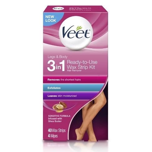 Veet Ready-To-Use Wax Strips and Wipes - 40ct - image 1 of 4