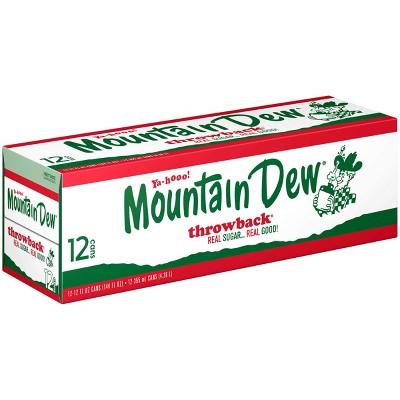 Mountain Dew Throwback Soda - 12pk/12 fl oz Cans