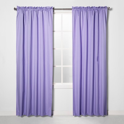 42 x84  Braxton Blackout Window Curtain Panel Lilac - Eclipse™