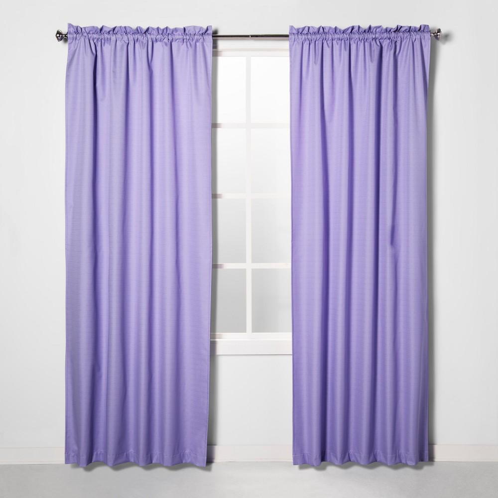 "Image of ""42""""x84"""" Braxton Blackout Window Curtain Panel Lilac (Purple) - Eclipse"""