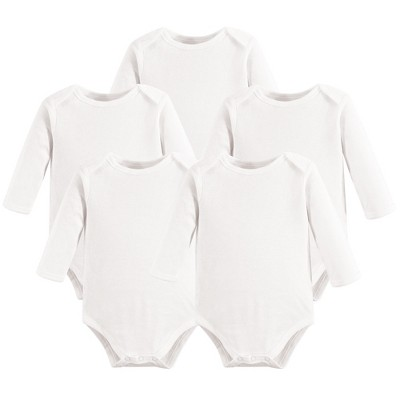 Touched by Nature Organic Cotton Long-Sleeve Bodysuits 5pk, White