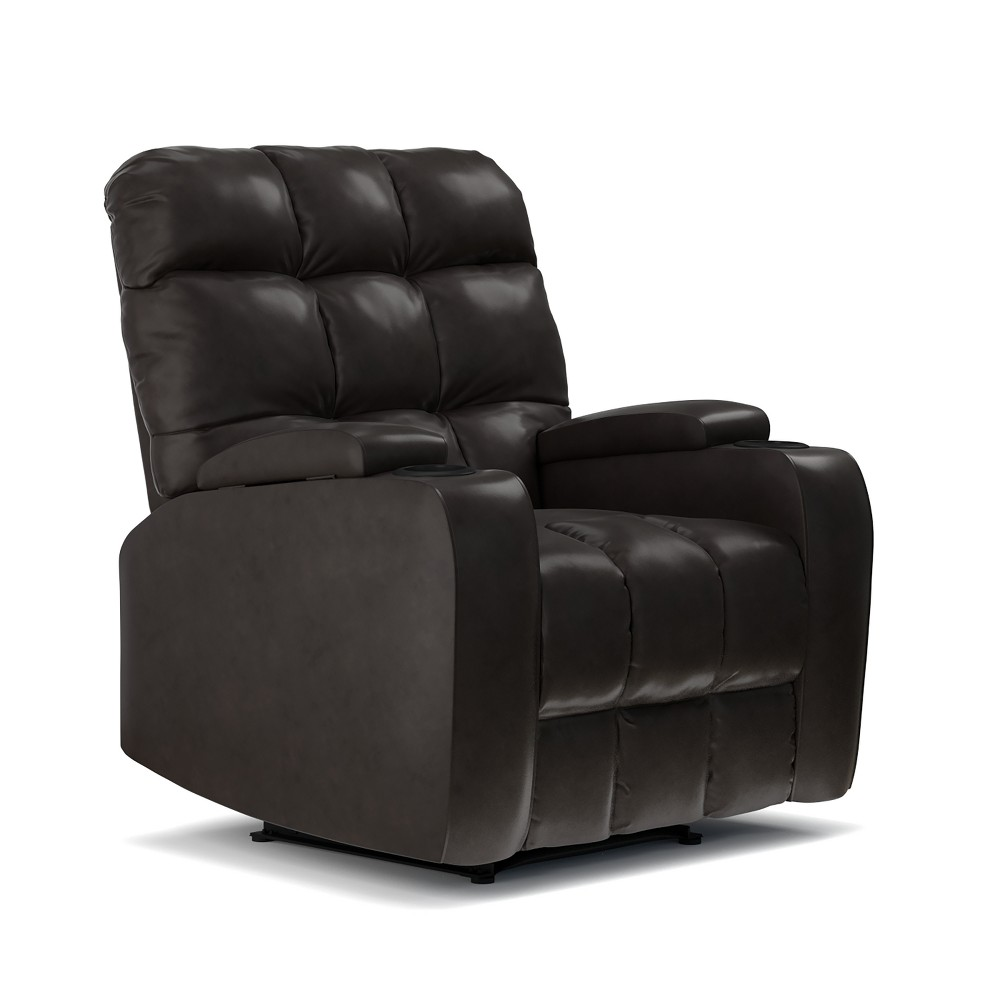 Image of Power Wall Hugger Storage Reclining Chair - Coffee Brown- Prolounger