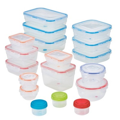 LocknLock Easy Essentials Color Mates Assorted Food Storage Container Set - 36pc