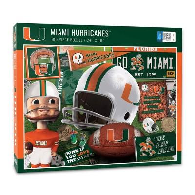 NCAA Miami Hurricanes Throwback Puzzle 500pc