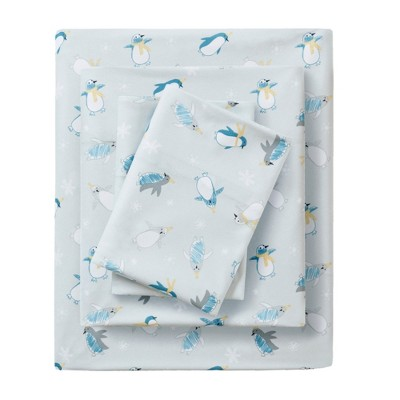 Cozyspun All Seasons Sheet Set (King)4pc Gray Penguins