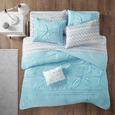 Aqua Kara Comforter and Sheet Set (Queen)