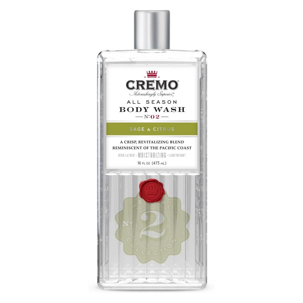 Cremo Sage & Citrus Body Wash - 16 fl oz