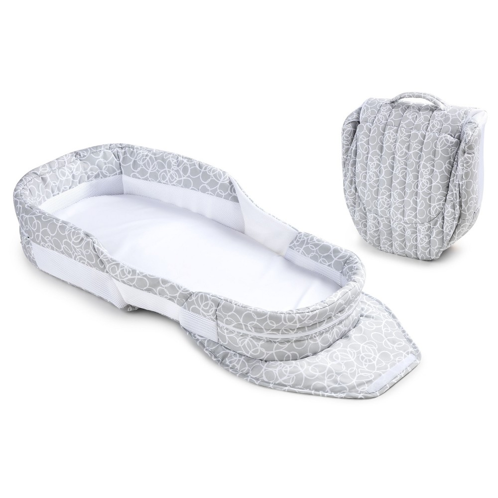 Image of Baby Delight Snuggle Nest Dream Portable Infant Sleeper - Gray Scribbles