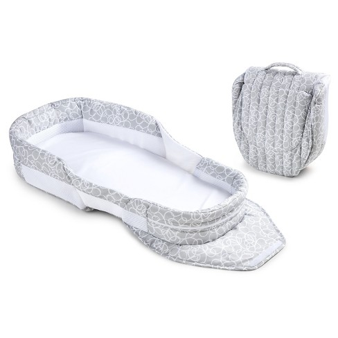 Baby Delight Snuggle Nest Dream Portable Infant Sleeper Gray Scribbles