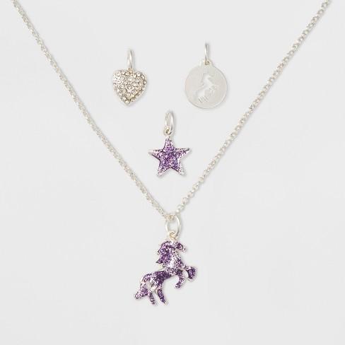 Girls' Unicorn Charm Necklace - Cat & Jack™ One Size - image 1 of 2