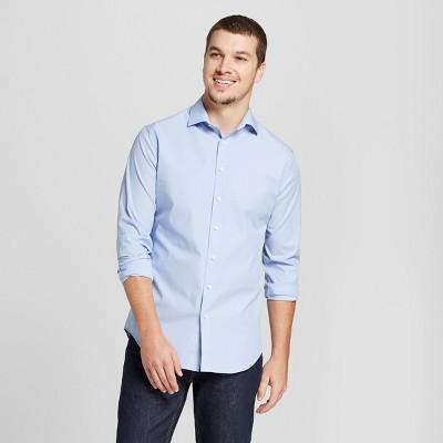 White Blue Dress Shirt