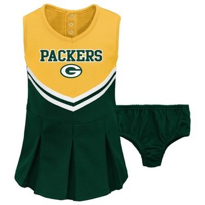 NFL Green Bay Packers Toddler Girls' Cheer Set