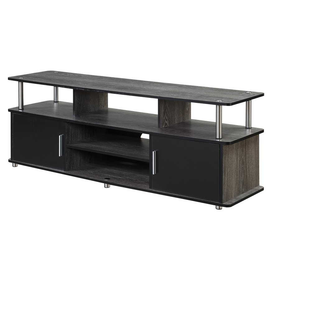 Designs2Go 60 Monterey TV Stand - Weathered Gray / Black - Johar Furniture