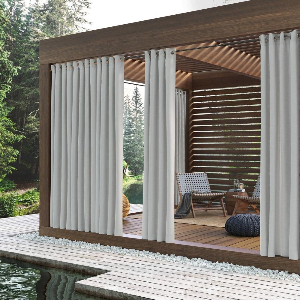 108 34 X52 34 Rodham Indoor Outdoor Blackout Energy Efficient Uv Resistant Curtain Panel White Sun Zero