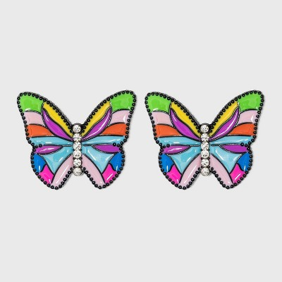 SUGARFIX by BaubleBar Colorful Butterfly Stud Earrings