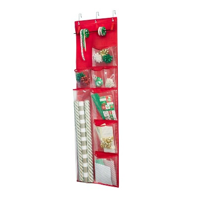 Honey-Can-Do Holiday Over The Door Organizer Red