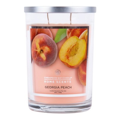 19oz Glass Jar 2-Wick Candle Georgia Peach - Home Scents by Chesapeake Bay Candle
