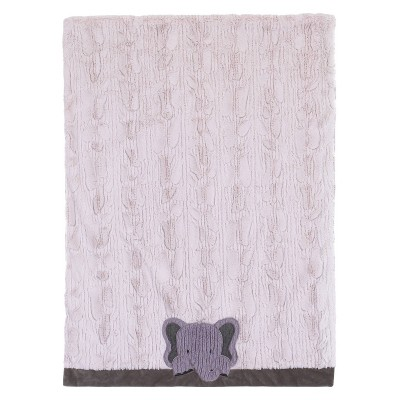 NoJo Play Day Pals Super Soft Appliqued and Textured Elephant Plush Baby Blanket