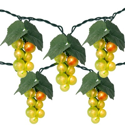 Northlight 5-Count Green Grape Cluster Outdoor Patio String Light Set, 6ft Green Wire