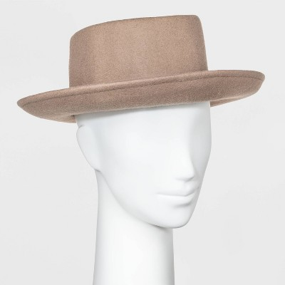 Women's Felt Boater Hat - Universal Thread™ Taupe One Size