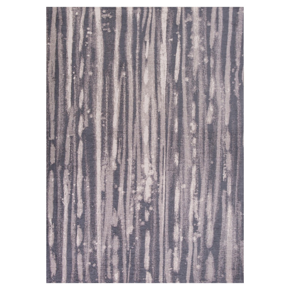 Charcoal (Grey) Solid Pressed/Molded Accent Rug 20