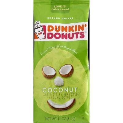 Dunkin' Donuts Coconut Medium Roast Ground Coffee - 11oz